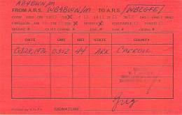 Amateur Radio QSL - AB4BWN / WB4BWN Mobile In Carroll County, AR -USA- 1976 - Radio Amateur