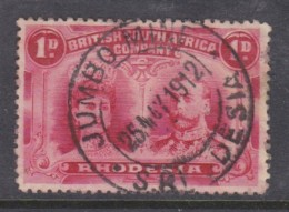 Southern Rhodesia, B.S.A.Co:1910, Double Head, 1d, Perf 14 Used,  JUMBO MINE25 MAY 1912  C.d.s., - Southern Rhodesia (...-1964)