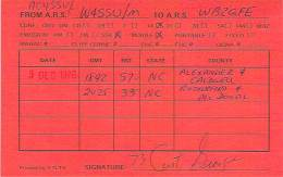 Amateur Radio QSL - AC4SSU / W4SSU Movile In Alexander, Caldwell & Rutherford Counties, NC