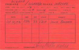 Amateur Radio QSL - AC6ANB / W6ANB Mobile In Santa Barbara County, CA -USA- 1976
