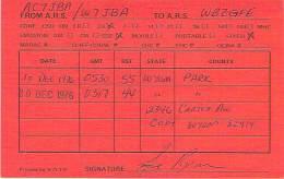 Amateur Radio QSL - AC7JBA / W7JBA In Cody, WY -USA- 1976