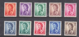 Hong Kong ElizabethII, 1962, Short Set, 5c - $18 MH * - Hong Kong (...-1997)
