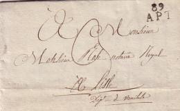 VAUCLUSE - APT - LE 9 OCTOBRE 1829 - LETTRE AVEC LONG TEXTE DU MAIRE DE CERESTE - AVEC SIGNATURE DU MAIRE - COTE 65€. - Marcophilie (Lettres)