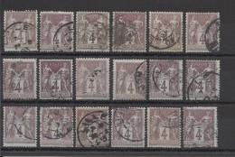 FRANCE - LOT DE 18 TIMBRES OBLITERES - COTE YT : 36€ - 1877 - Frankrijk
