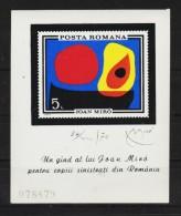 1970 - Tableaux De J.MIRO  Mi No Bl 81 MNH - 1948-.... Republics