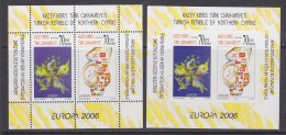 Europa Cept 2006 Northern Cyprus M/s Perforated + Imperforated  ** Mnh (31565) - 2006