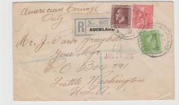 NZ179 / Takapuna (Auckland) 1935 Mit George V,Ausgabe 3 Pence Etc. Nach USA - 1907-1947 Dominion