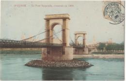 France, AVIGNON, Le Pont Suspendu, 1908 Used Postcard [18387] - Avignon (Palais & Pont)