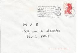 "FLAMME DE MALAKOFF - HAUTS DE SEINE "" Hommage Jean Baptiste Charcot Latitudes Sud 1986 "" - Postmark Collection (Covers)"