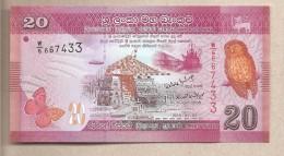 Sri Lanka - Banconota Non Circolata FdS Da 20 Rupie - 2010 - Sri Lanka