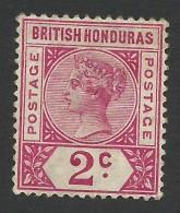 British Honduras, 2 C. 1891, Sc # 39, Mi # 32, MH - British Honduras (...-1970)