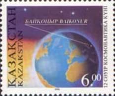 Kazakhstan 1996.   Cosmonautics Day. Baikonur Launch Pad Highlighted On Globe  Mi. #115 MNH ** - Geography