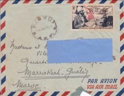 Z] Enveloppe Cover AEF Bangui 1955 Savorgnan De Brazza - Timbres