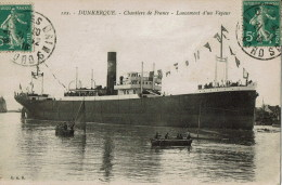 122  Dunkerque  Chantiers De France  Lancement  D'un Vapeu - Dampfer
