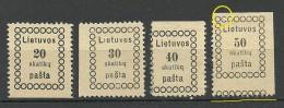 LITAUEN Lithuania 1918 Michel 5 - 8