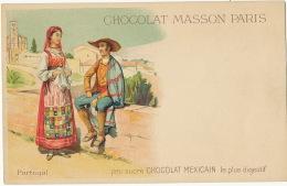 Portugal Art Card Pub Chocolat Mexicain Masson Undivided Back Before 1903 - Non Classés