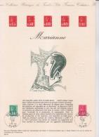 = Document Philatélique 1er Jour Paris 31.07.76 N°1891 0f80 Vert & 1892 1f00 Rouge Marianne De Bequet, - Documents Of Postal Services