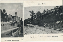 Saint Marin Chemin De Fer Rimini St Marin Et Couvent Capuçins Collage Coupure Journal - Saint-Marin