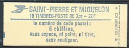 Saint Pierre Et Miquelon 1986 Carnet C464, Vendu Sous Faciale - Carnets