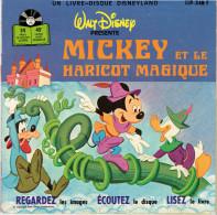 MICKEY ET LE HARICOT MAGIQUE 1973 WALT DISNEY LIVRET DE 24 PAGES ILLUSTREES ET DISQUE 45 TOURS - Disques & CD