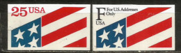 The Star-Spangled Banner  Etats-Unis. 2 Timbres Neufs ** Auto-collants - Briefmarken