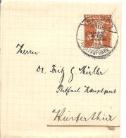 Schweiz, 1918, Zu IKW 1, 3 Rp, Dünne Schrift, Streifband Von Basel Nach Winterthur, Siehe Scans! - Switzerland