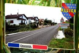 Postcard, Communes Of France, Charmeil, Allier 1 - Cartes Géographiques