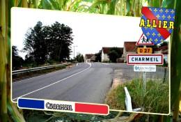 Postcard, Communes Of France, Charmeil, Allier 2 - Cartes Géographiques