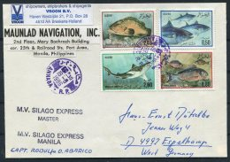 1986 Algeria Fish Annaba M.V. SILAGO EXPRESS Manilla Ship Cover - Algerien (1962-...)