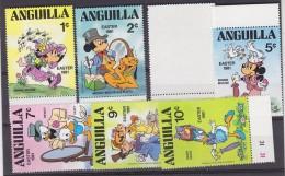 Anguilla 1981 Easter / Comics 7v (1v Short Teeth) ** Mnh (31572) - Anguilla (1968-...)