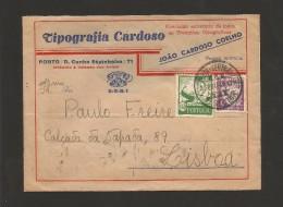 ADVERT COVER PUBLICITE PORTUGAL PORTO OPORTO Year 1941 - 1910-... République