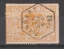 TR5 / SP5 Met ZELDZAME HEXAGONE Stempel RANSART Dd. 20/11/1882 Met Speldeprikjes ! Inzet Aan 8,5 € ! - Chemins De Fer