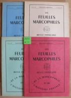 Les Feuilles Marcophiles - Année 1972 - 4 Numéros 187 à 190 - Frais De Port 2.50 Euros - Non Classés