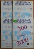 Les Feuilles Marcophiles - Année 2000 - 4 Numéros 300 à 303 - Frais De Port 2.50 Euros - Littérature