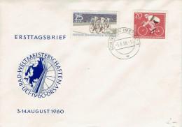 DDR / GDR - Mi-Nr 779/780 Umschlag Gestempelt / Cover Used (N447) - Ciclismo