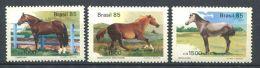 172 BRESIL 1985 - Yvert 1719/21 - Cheval Chevaux - Neuf ** (MNH) Sans Trace De Charniere - Brazil