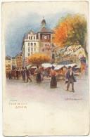 Tour De L' Ile Geneve Art Card Edit Vouga Chromo Maurice Reymond - GE Geneva