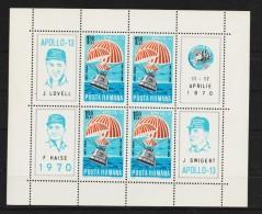 1970 - Apollo 13  Mi No Bl 77 Et Yv No Bf 78 MNH - 1948-.... Républiques