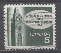 Canada 1965, Scott #441 Peace Tower, Ottawa (U) - 1952-.... Règne D'Elizabeth II
