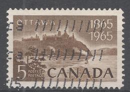 Canada 1965, Scott #442 Parliament And Ottawa River (U) - 1952-.... Règne D'Elizabeth II
