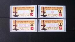"""Belgique Vignettes De Distributeurs: Timbres Numéro ATM128S11 """"La Magie De Folon"""" - Postage Labels"""