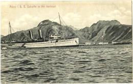 Aden - S. S. Salsette In The Harbour - & Boat - Yemen
