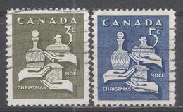 Canada 1965. Scott #443-4 (U) Christmas: Gifts Of The Wise Men - 1952-.... Règne D'Elizabeth II