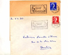 Lettre Flamme Strasbourg Port Rhenan - Postmark Collection (Covers)