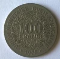 Afrique De L´Ouest - 100 Frs - 1975 - - Monnaies