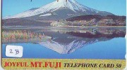 Télécarte Japon * Volcan MONT FUJI (2b) Vulcan * Japan Phonecard * Vulkan Volcano * Telefonkarte * Mount Fuji - Montagnes