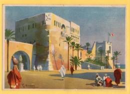 TRIPOLI - CARTOLINA LOTTERIA  1939 - FG  - ILLUSTRATORE  SILVIO BONELLI - Illustratori & Fotografie