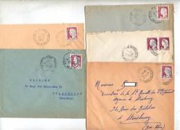 Lot  5 Lettre Cachet Meurthe-moselle, Haute-marne Sur Decaris Pour Film Gaumont - Postmark Collection (Covers)