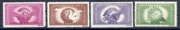 ROMANIA 1945 World Trade Union Congress Set MNH / **.  Michel 917-20 - 1918-1948 Ferdinand, Charles II & Michael