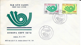 N°  2050/2051    EUROPA     TURQUIE    -   1973  -   FDC - FDC